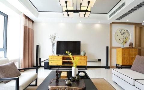 客厅背景墙中式风格装修设计图片