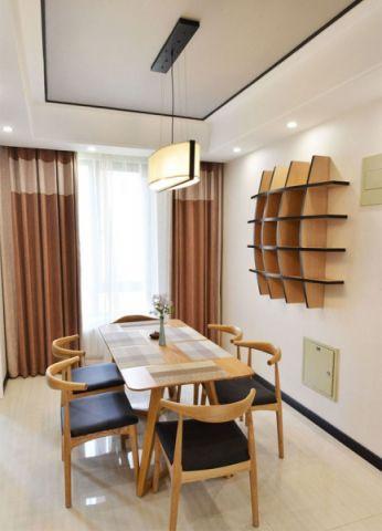 餐厅窗帘中式风格装饰图片