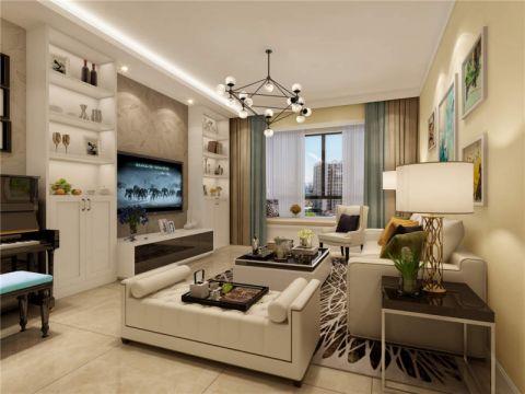30万预算150平米三室两厅装修效果图