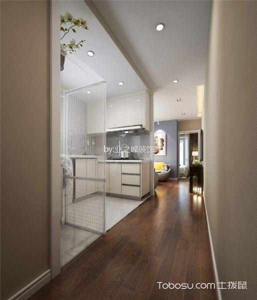 厨房灰色隔断北欧风格装饰设计图片