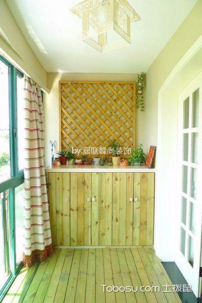 阳台白色推拉门田园风格装修设计图片