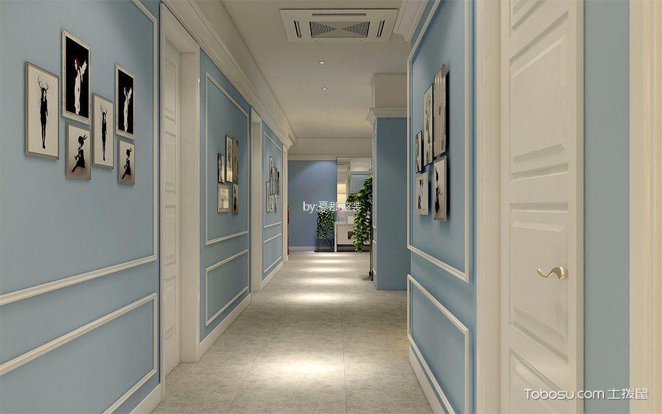 采菱家园混搭500平米美容院过道背景墙装修图片