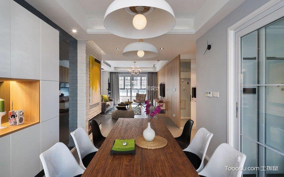 餐厅 餐桌_9万预算100平米两室两厅装修效果图