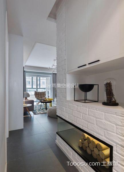 玄关 走廊_9万预算100平米两室两厅装修效果图
