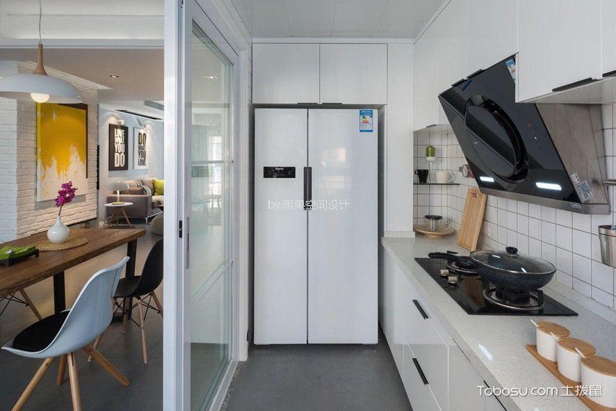 厨房 橱柜_9万预算100平米两室两厅装修效果图