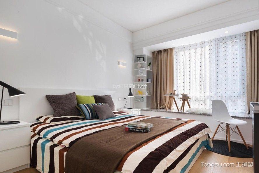 卧室 飘窗_9万预算100平米两室两厅装修效果图