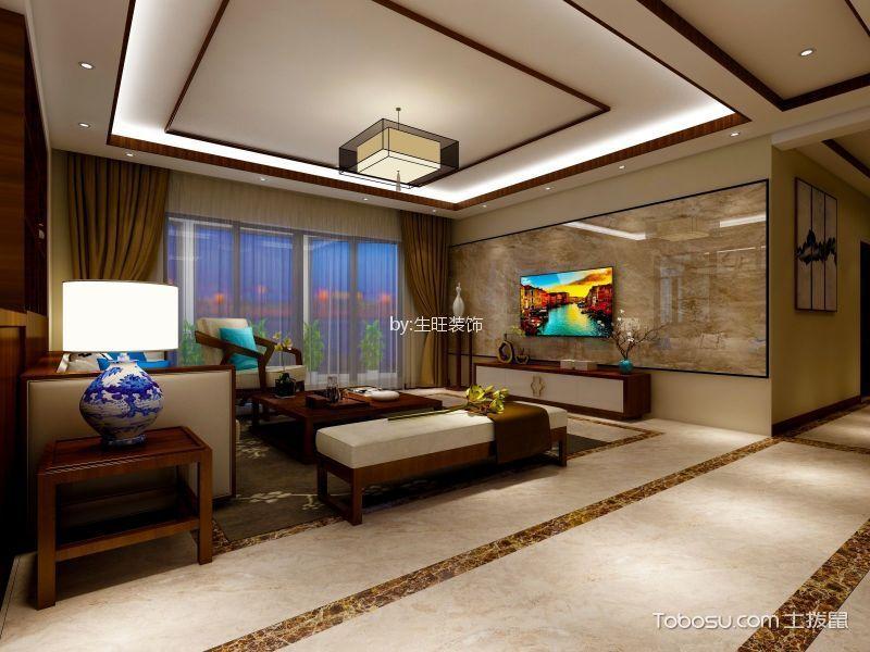 100㎡中式风格公寓装修效果图