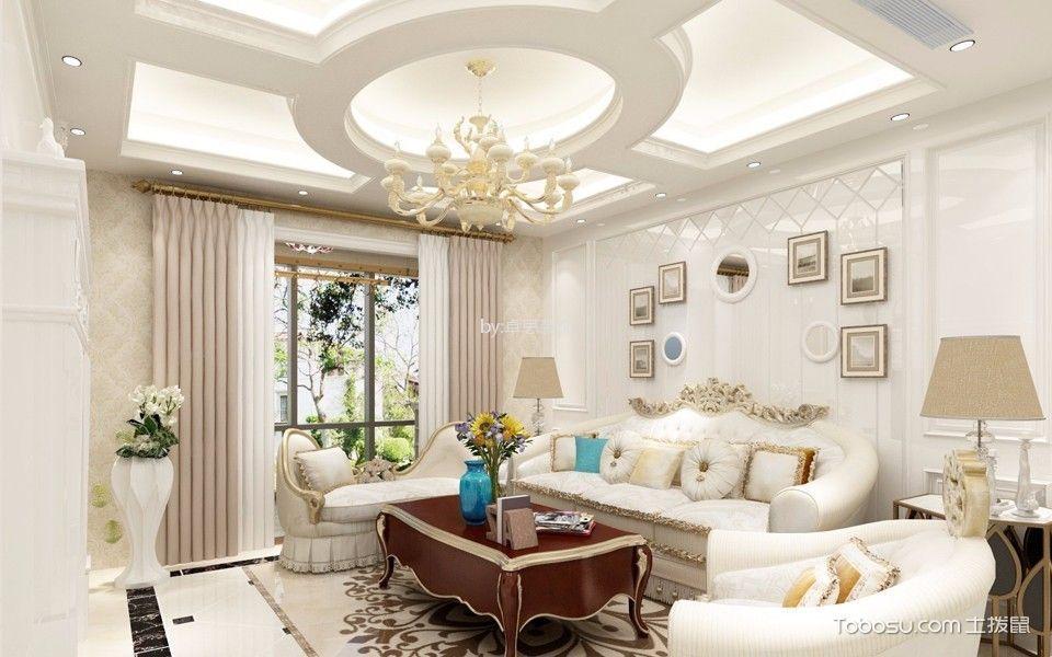 融侨观澜简欧风格三室两厅装修效果图
