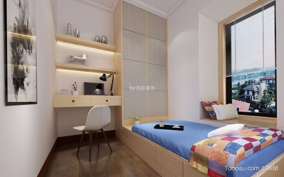 儿童房榻榻米新中式风格装饰图片