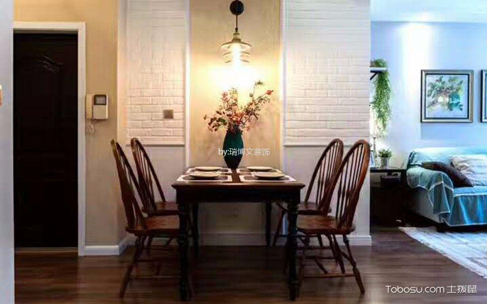加州水郡89平米美式二居室装修效果图