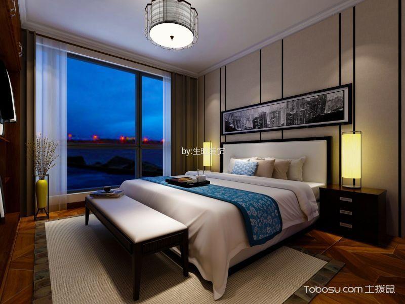 卧室白色床新中式风格装修图片