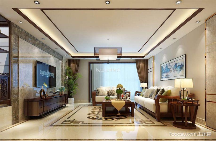 2018新中式客厅装修设计 2018新中式吊顶图片