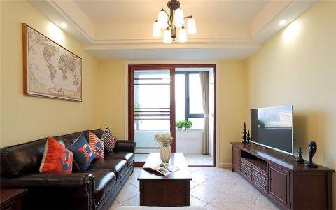 客厅推拉门新中式风格装饰图片