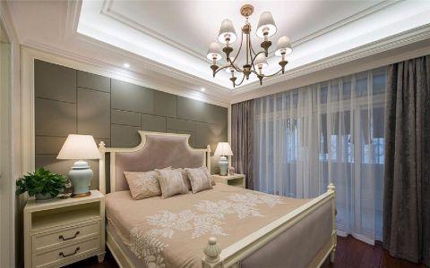 卧室窗帘美式风格装潢设计图片