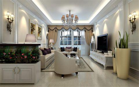 御景城100平欧式风格三室两厅装修效果图