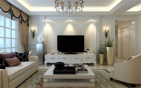 客厅背景墙欧式风格装饰效果图