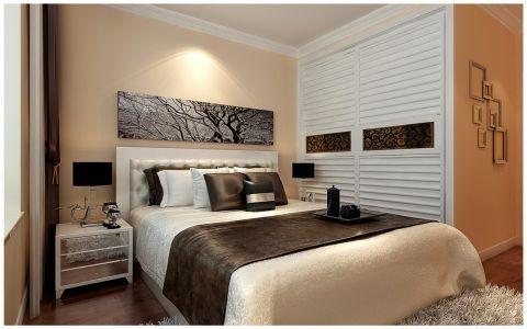 卧室推拉门现代简约风格装修设计图片