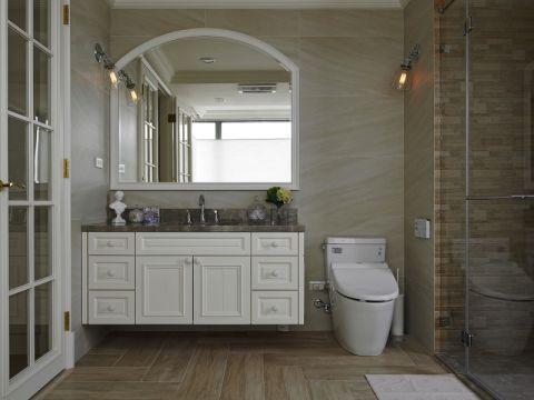 简洁白色隔断室内装修设计