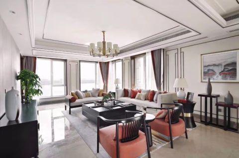 华润桃源里120平现代风格三居室装修效果图