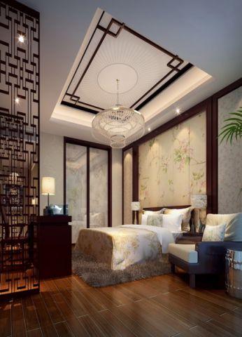 卧室吊顶中式风格装饰设计图片