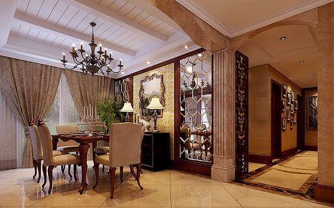 餐厅背景墙欧式风格装潢效果图
