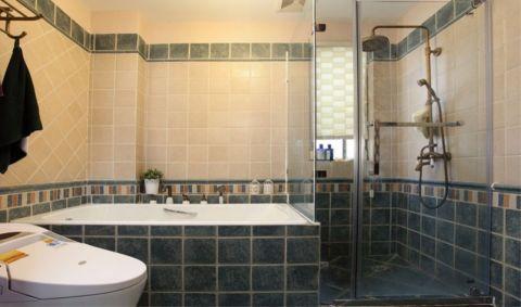 卫生间隔断美式装修案例图片