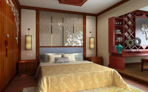 卧室床中式风格装饰设计图片