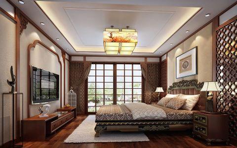 2019新中式卧室装修设计图片 2019新中式推拉门装修图片