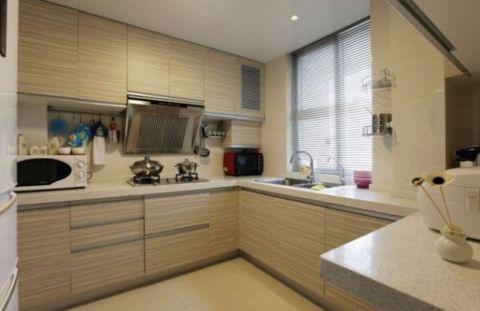 厨房黄色橱柜现代简约风格装饰效果图