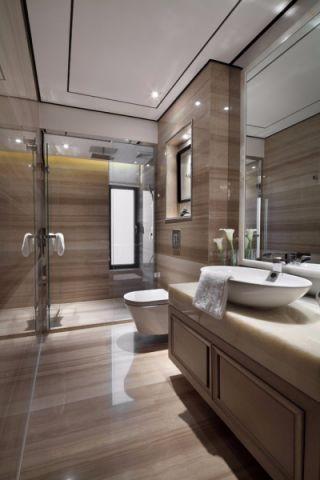卫生间白色洗漱台新古典风格装潢效果图