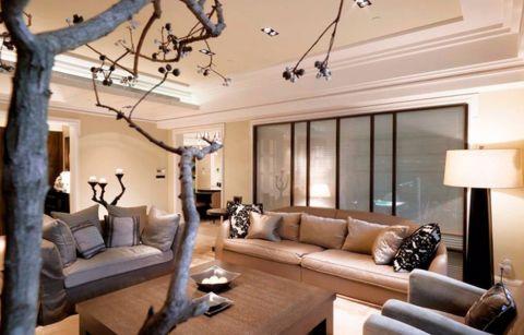 客厅米色沙发新古典风格装修效果图