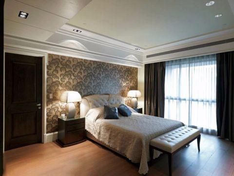 卧室白色吊顶新古典风格装潢效果图