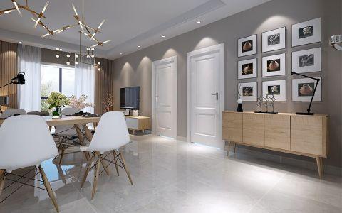 餐厅灰色走廊北欧风格装潢设计图片