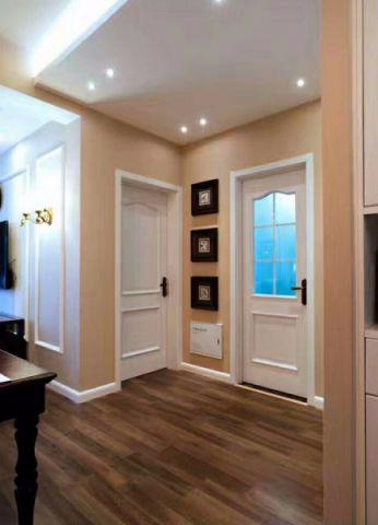 玄关米色门厅美式风格装修设计图片