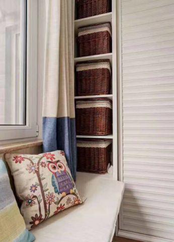 卧室米色飘窗美式风格装潢效果图