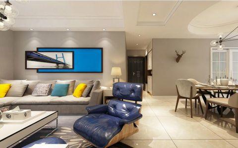 2019现代简约客厅装修设计 2019现代简约走廊效果图