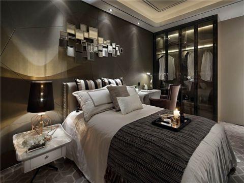 卧室咖啡色背景墙现代风格效果图