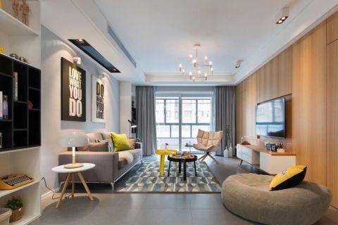 博园路80平北欧风格二居室装修效果图