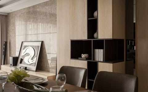 2018现代简约餐厅效果图 2018现代简约博古架装修设计图片