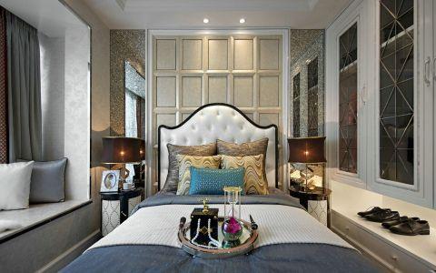 卧室白色飘窗混搭风格装潢效果图