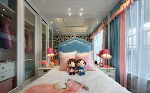 儿童房白色窗帘混搭风格装修图片