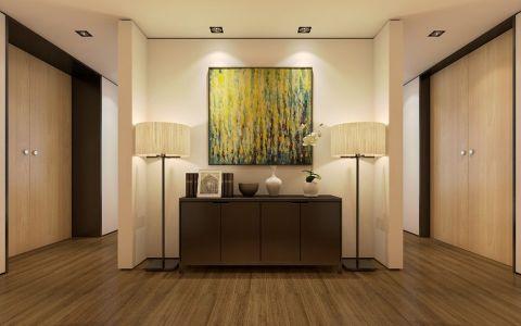 玄关米色走廊现代欧式风格装饰图片