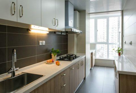 厨房咖啡色窗台简约风格装潢设计图片