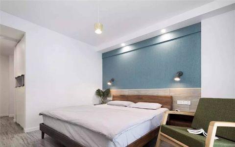 卧室白色背景墙简约风格装修效果图