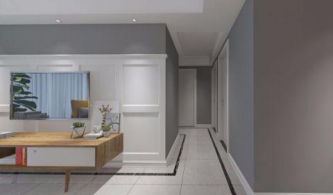 玄关米色走廊北欧风格装饰图片