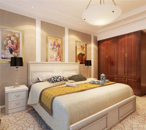 卧室米色床简欧风格装饰图片