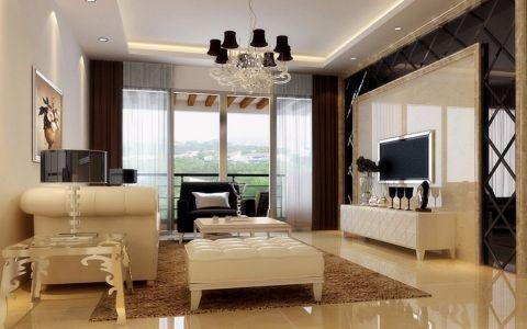 客厅咖啡色吊顶现代简约风格装饰设计图片