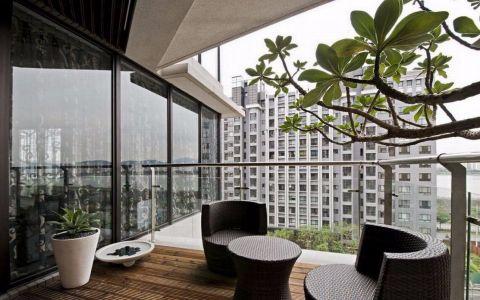 阳台飘窗现代简约风格装饰效果图