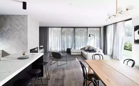 启迪方洲115平现代简约三居室装修效果图