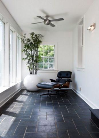 阳台飘窗现代简约风格装潢图片